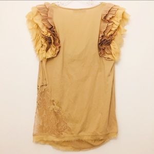Valentino Tops - VALENTINO T-SHIRT COUTURE LAYER SLEEVE BLOUSE